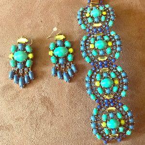 Stella & Dot bracelet and earrings.